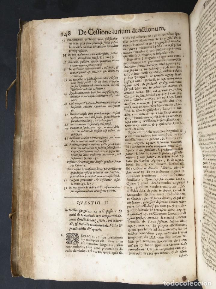 Libros antiguos: Año 1683 - TRACTATUS DE CESSIONE IURIUM - Alfonso de Olea - Pergamino - Derecho - Folio - Valladolid - Foto 19 - 267018889