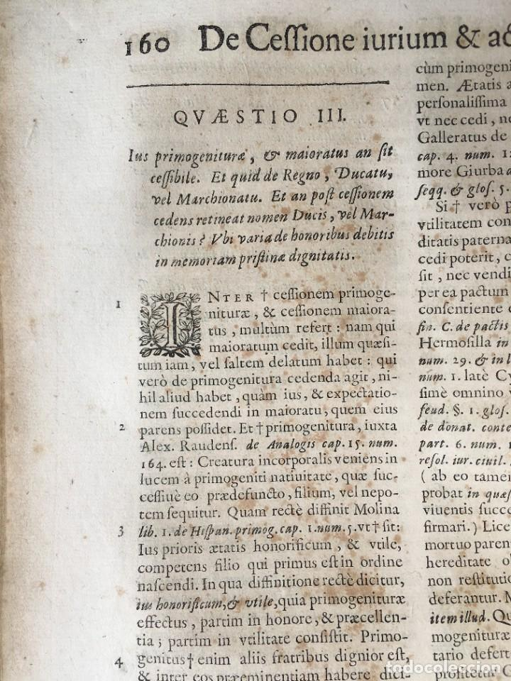 Libros antiguos: Año 1683 - TRACTATUS DE CESSIONE IURIUM - Alfonso de Olea - Pergamino - Derecho - Folio - Valladolid - Foto 21 - 267018889