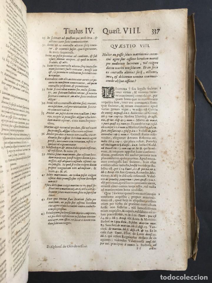 Libros antiguos: Año 1683 - TRACTATUS DE CESSIONE IURIUM - Alfonso de Olea - Pergamino - Derecho - Folio - Valladolid - Foto 23 - 267018889