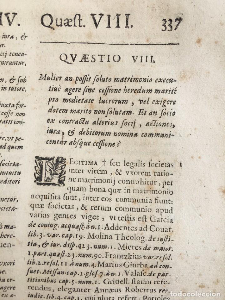 Libros antiguos: Año 1683 - TRACTATUS DE CESSIONE IURIUM - Alfonso de Olea - Pergamino - Derecho - Folio - Valladolid - Foto 24 - 267018889