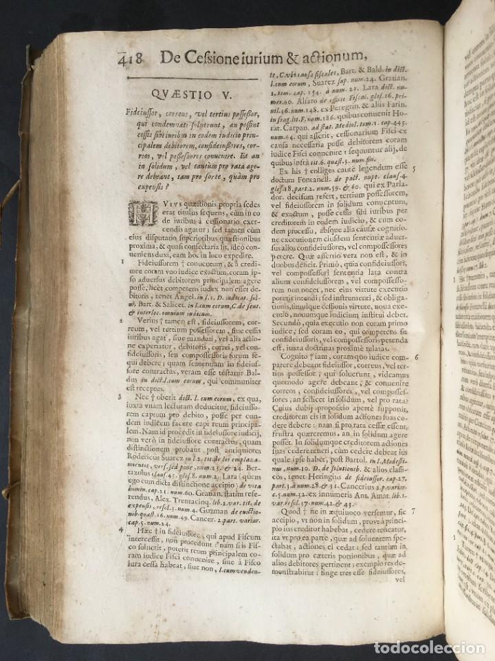 Libros antiguos: Año 1683 - TRACTATUS DE CESSIONE IURIUM - Alfonso de Olea - Pergamino - Derecho - Folio - Valladolid - Foto 25 - 267018889