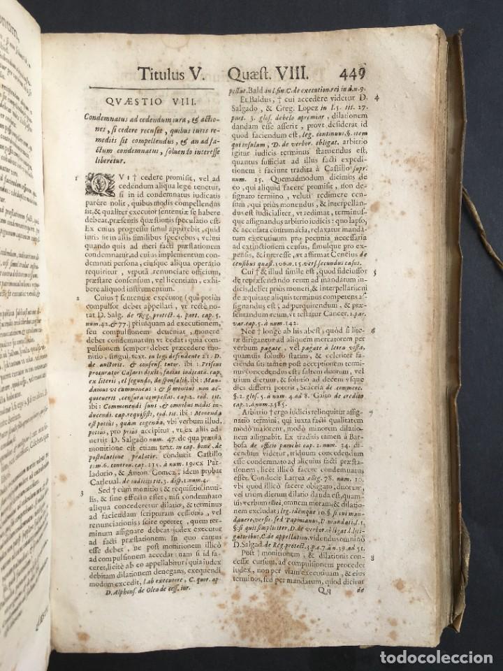 Libros antiguos: Año 1683 - TRACTATUS DE CESSIONE IURIUM - Alfonso de Olea - Pergamino - Derecho - Folio - Valladolid - Foto 28 - 267018889