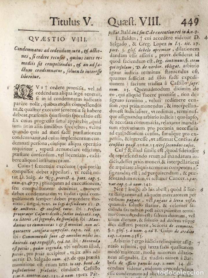 Libros antiguos: Año 1683 - TRACTATUS DE CESSIONE IURIUM - Alfonso de Olea - Pergamino - Derecho - Folio - Valladolid - Foto 29 - 267018889