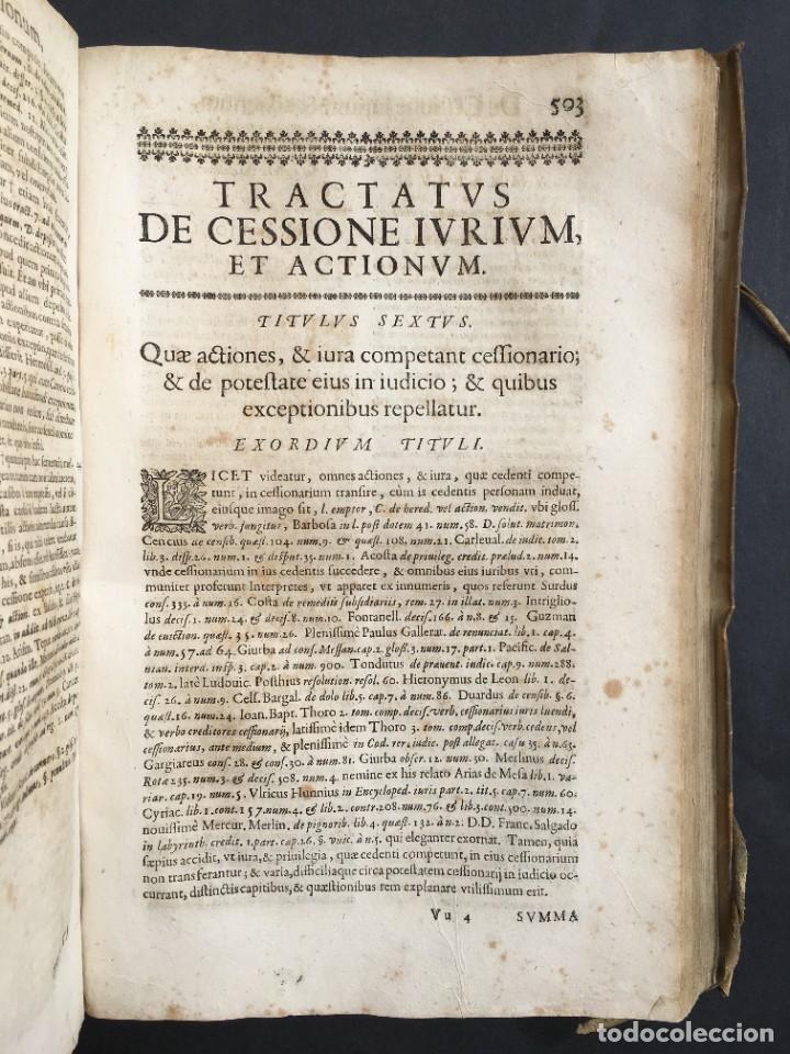 Libros antiguos: Año 1683 - TRACTATUS DE CESSIONE IURIUM - Alfonso de Olea - Pergamino - Derecho - Folio - Valladolid - Foto 30 - 267018889