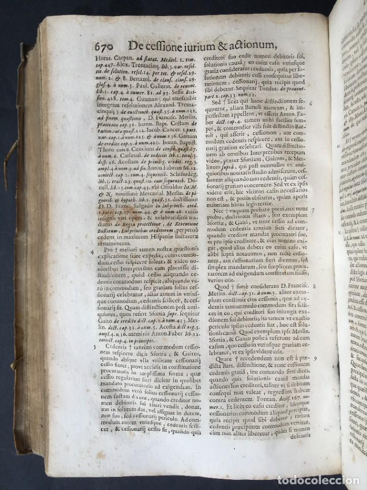Libros antiguos: Año 1683 - TRACTATUS DE CESSIONE IURIUM - Alfonso de Olea - Pergamino - Derecho - Folio - Valladolid - Foto 33 - 267018889