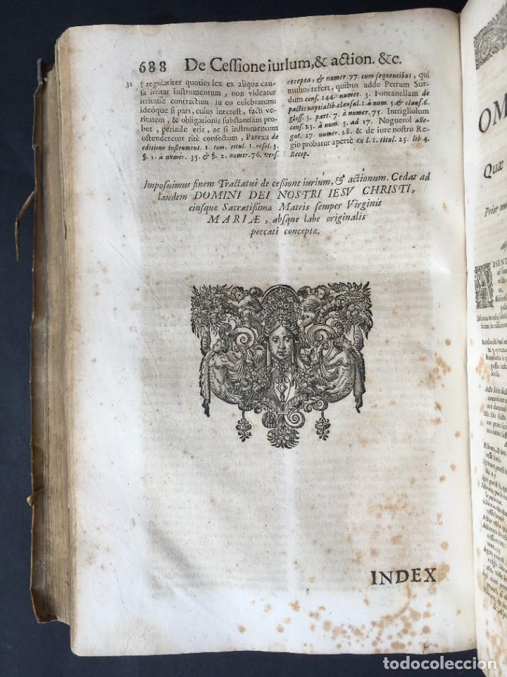 Libros antiguos: Año 1683 - TRACTATUS DE CESSIONE IURIUM - Alfonso de Olea - Pergamino - Derecho - Folio - Valladolid - Foto 35 - 267018889