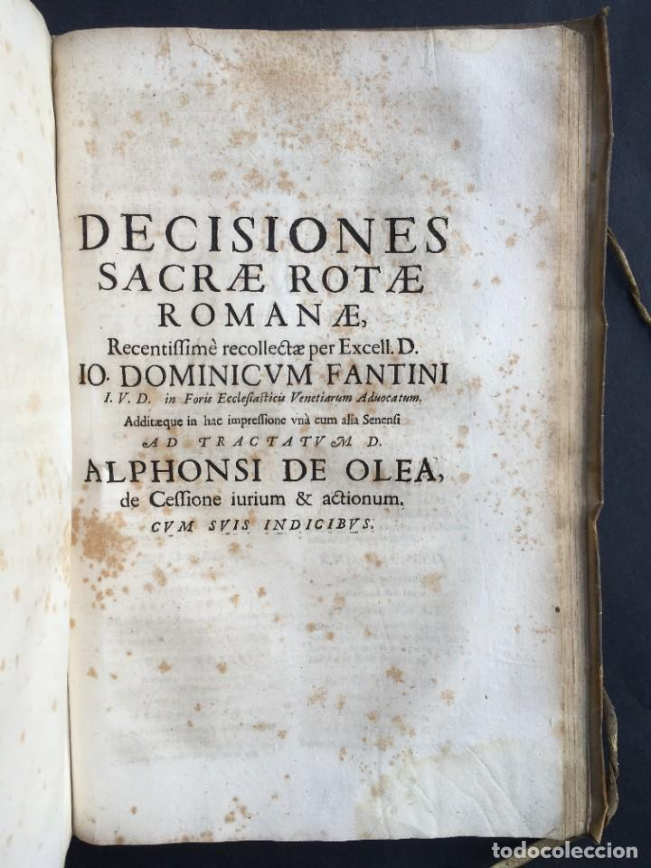 Libros antiguos: Año 1683 - TRACTATUS DE CESSIONE IURIUM - Alfonso de Olea - Pergamino - Derecho - Folio - Valladolid - Foto 37 - 267018889