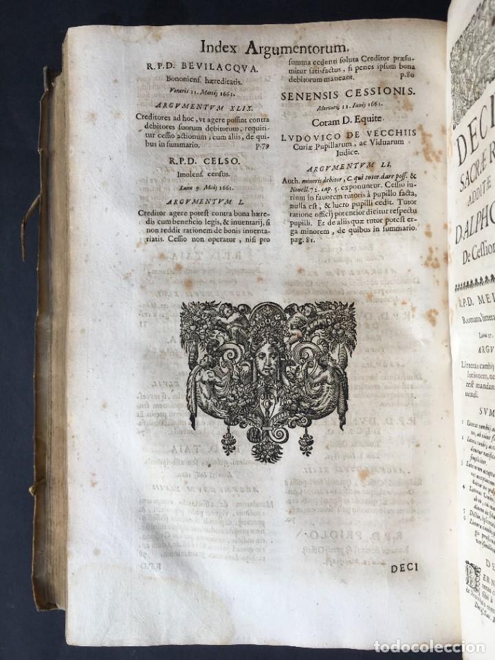 Libros antiguos: Año 1683 - TRACTATUS DE CESSIONE IURIUM - Alfonso de Olea - Pergamino - Derecho - Folio - Valladolid - Foto 39 - 267018889