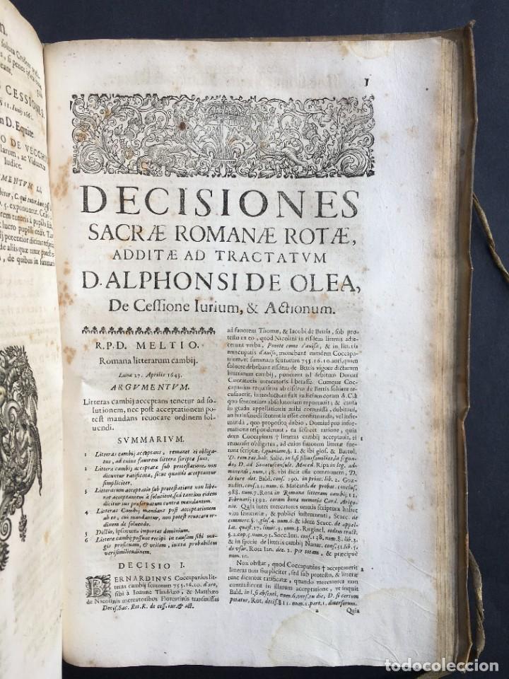 Libros antiguos: Año 1683 - TRACTATUS DE CESSIONE IURIUM - Alfonso de Olea - Pergamino - Derecho - Folio - Valladolid - Foto 40 - 267018889