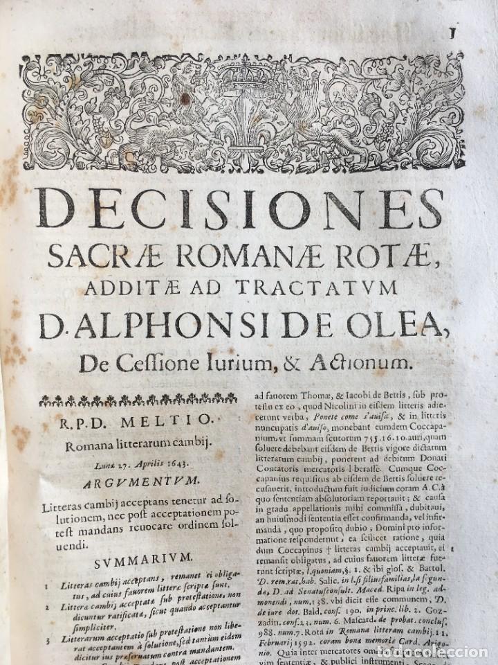 Libros antiguos: Año 1683 - TRACTATUS DE CESSIONE IURIUM - Alfonso de Olea - Pergamino - Derecho - Folio - Valladolid - Foto 41 - 267018889