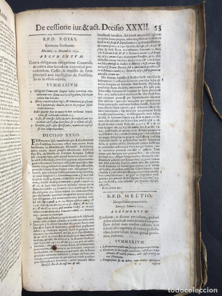 Libros antiguos: Año 1683 - TRACTATUS DE CESSIONE IURIUM - Alfonso de Olea - Pergamino - Derecho - Folio - Valladolid - Foto 42 - 267018889