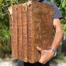 Livres anciens: 1769 - JUS ECCLESIASTICUM UNIVERSUM - DERECHO CANÓNICO - 5 VOLUMINOSOS LIBROS EN PIEL. Lote 267112179