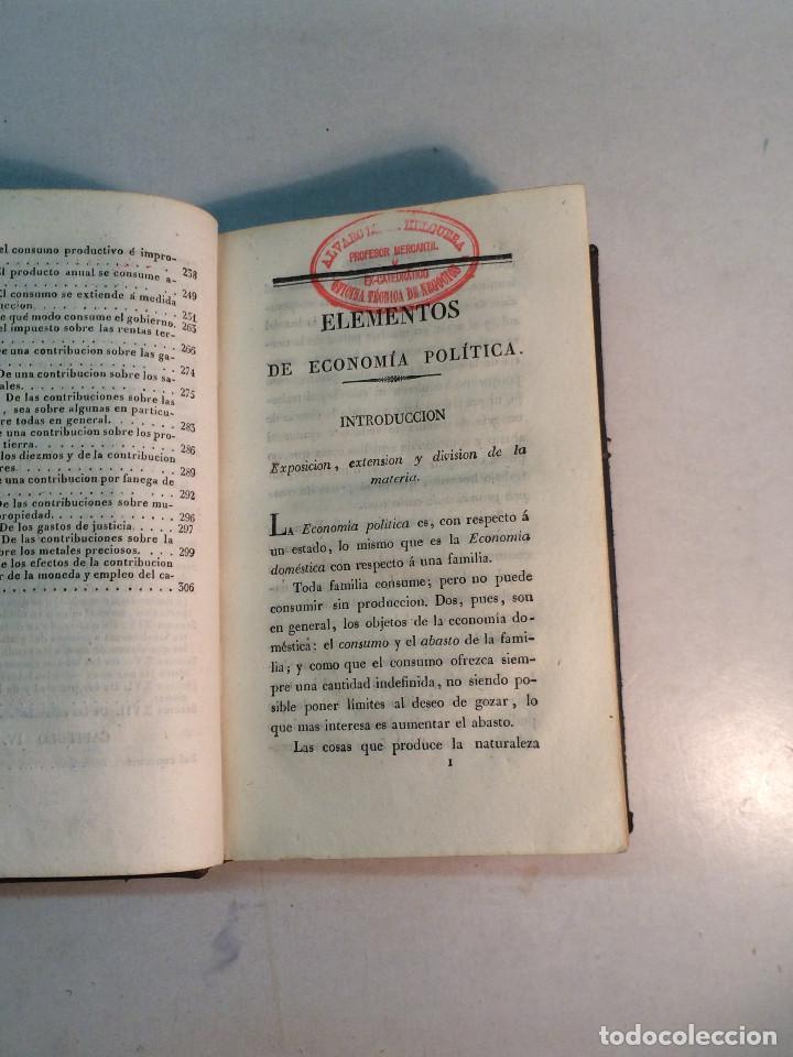 Libros antiguos: J. Mill: Elementos de economía política (1831) - Foto 2 - 269083448