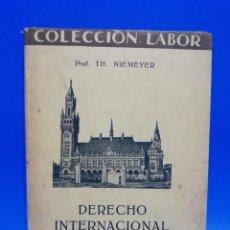 Libros antiguos: DERECHO INTERNACIONAL PUBLICO. PROF. TH. NIEMEYER. TRADUCCION FAUSTINO BALLVE. 1930. PAGS. 188.. Lote 269592288