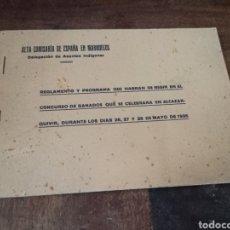 Libros antiguos: REGLAMENTO. CONCURSO DE GANADOS ALCAZAR-QUIVIR. INDIGENAS. ALTA COMISARIA DE MARRUECOS. 1935. Lote 269612783