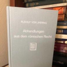 Libros antiguos: ABHANDLUNHEN AUS DEM RÖMISCHEN RECHT VON JHERING. Lote 270102618