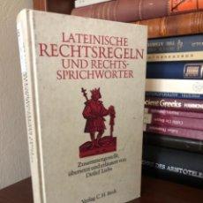 Libros antiguos: LATEINISCHE RECHTSREGELN UND RECHTS-SPRICHWÖRTER. Lote 270102863