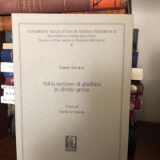 Libros antiguos: SULLA NOZIONE DI GIUDIZIO IN DIRITTO GRECO GERNET. Lote 270105033