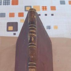 Libros antiguos: COLECCION DE CODIGOS Y LEYES DE ESPAÑA TOMO TERCERO 1866. Lote 270365708
