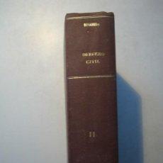 Libros antiguos: INSTITUCIONES DE DERECHO CIVIL. VOLUMEN SEGUNDO - ROBERTO DE RUGGIERO. MADRID 1931 EDITORIAL REUS. Lote 271565313