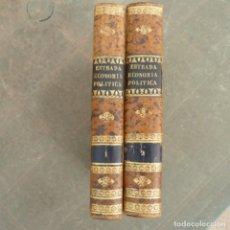Libros antiguos: ESTRADA , ECONOMIA POLITICA , 1840 , DOS TOMOS. Lote 274924723