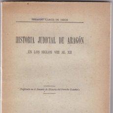 Livros antigos: HISTORIA JUDICIAL DE ARAGÓN EN LOS SIGLOS VIII AL XII. Lote 276361633