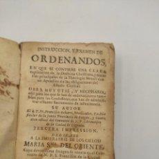"""Libros antiguos: """"INTRODUCCIÓN Y EXAMEN DE ORDENANDOS"""" DE FRANCISCO ECHARRI DE 1733. PAMPLONA. TERCERA IMPRESIÓN.. Lote 277456668"""