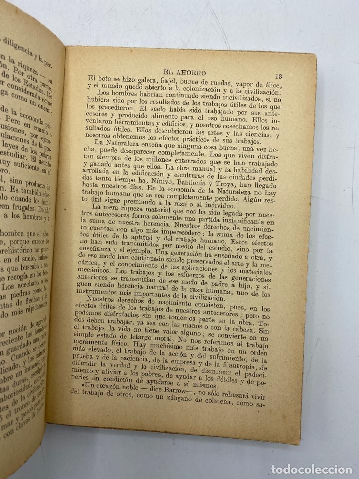 Libros antiguos: EL AHORRO. SAMUEL SMILES. EDITORIAL RAMON SOPENA. BARCELONA, 1935. PAGS: 310 - Foto 3 - 277641203