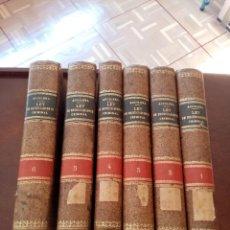 Libros antiguos: COMENTARIOS A LA LEY DE ENJUICIAMIENTO CRIMINAL. ENRIQUE AGUILERA DE PAZ. OBRA EN 6 TOMOS.. Lote 278367433