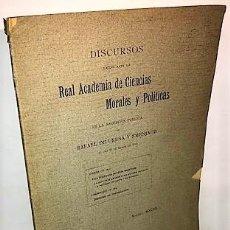 Libros antiguos: RAFAEL DE UREÑA Y SMENJAUD ... UNA TRADICION JURIDICA ESPAÑOLA. LA AUTORIDAD PATERNA ... 1912. Lote 279520638