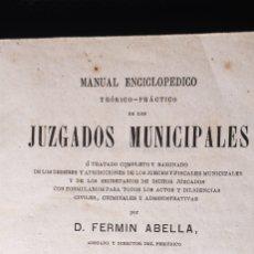 Libros antiguos: JUZGADOS MUNICIPALES - AÑO 1873. Lote 284639963