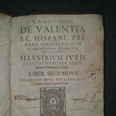 Libros antiguos: 1646. SALAMANCA. MELCHOR DE VALENCIA. LIBRO DE ESTUDIOS DE DERECHO DE LA UNIVERSIDAD.. Lote 285340698