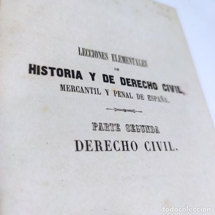 Libros antiguos: Lecciones elementales de derecho civil. Dr. Salvador del Viso. 4 tomos. Valencia. 1868. - Foto 3 - 286275643