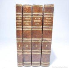 Libros antiguos: LECCIONES ELEMENTALES DE DERECHO CIVIL. DR. SALVADOR DEL VISO. 4 TOMOS. VALENCIA. 1868.. Lote 286275643