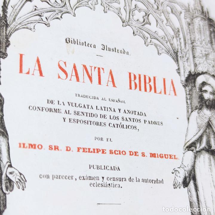 Libros antiguos: La Santa Biblia. De la vulgata latina y anotada. Ilmo. Sr. D. Felipe Scio de S. Miguel. Tomo II. Ant - Foto 3 - 286488143