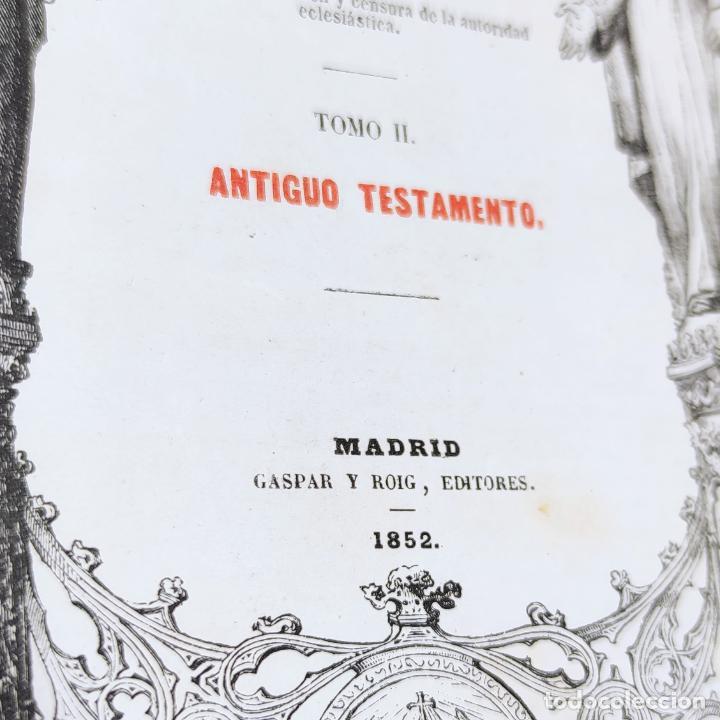 Libros antiguos: La Santa Biblia. De la vulgata latina y anotada. Ilmo. Sr. D. Felipe Scio de S. Miguel. Tomo II. Ant - Foto 4 - 286488143