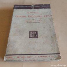 Libros antiguos: MANUAL DE DERECHO PROCESAL PENAL. RAFAEL DE PINA.VOLUMEN CLXXV. ED. REUS.1934. 372 PAGS.. Lote 286738958