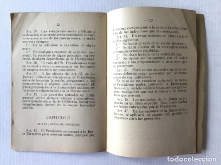Libros antiguos: REGLAMENTO DE LA HERMANDAD DE EXPENDEDORES DE TABACOS DE BARCELONA Y SU PROVINCIA. - Foto 4 - 286774953