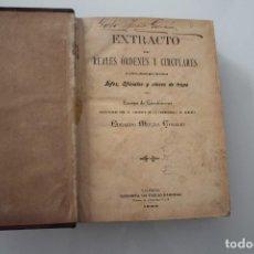 Libros antiguos: EXTRACTO DE REALES ORDENES Y CIRCULARES EDUARDO MOLINA CHARLEZ VALENCIA 1893. Lote 287363253