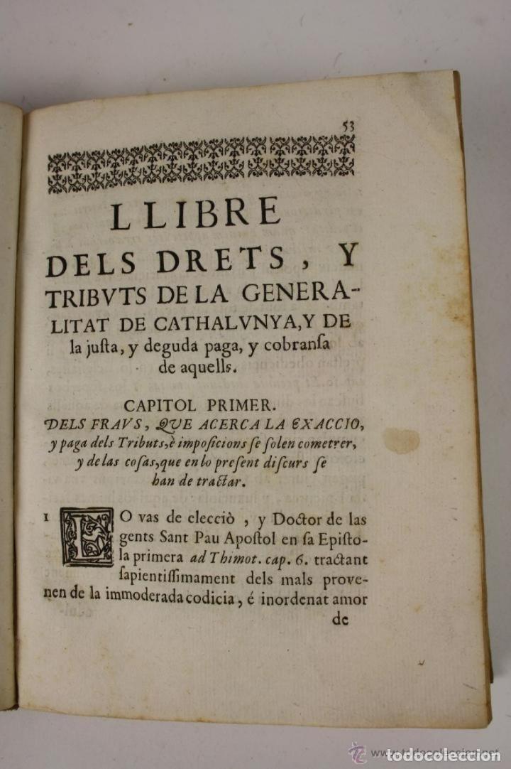 Libros antiguos: RECOPILACIO DE DIFERENTS VOTS, Y ALTRES DOCUMENTS. RAFAEL FIGUERO. BARCELONA 1682 - Foto 6 - 287483283