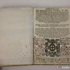 Libros antiguos: RECOPILACIO DE DIFERENTS VOTS, Y ALTRES DOCUMENTS. RAFAEL FIGUERO. BARCELONA 1682. Lote 287483283