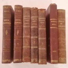 Livres anciens: LOTE ANTIGUOS LIBROS DERECHO S. XIX. Lote 287795373
