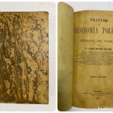 Libros antiguos: TRATADO DE ECONOMÍA POLÍTICA. PEDRO MORENO. 6ª EDICION. MADRID, 1898. PAGS: 463. Lote 287972028