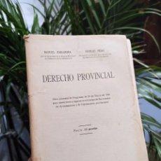 Libros antiguos: DERECHO PROVINCIAL, 1926. MANUEL BARAHONA / NICOLAS FRIAS.. Lote 288698588