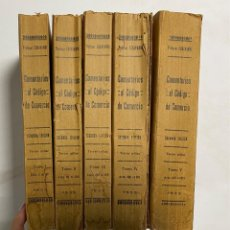 Libros antiguos: COMENTARIOS AL CODIGO DE COMERCIO. 5 TOMOS. PROFESOR ECHÁVARRI. 2ª ED. VALLADOLID, 1933.. Lote 289388538
