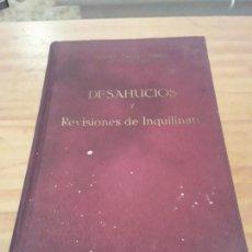 Libros antiguos: DESAHUCIOS Y REVISIONES DE INQUILINATO.MANUEL CASALS TORRES.BARCELONA.1936.237 PAG.. Lote 291601283