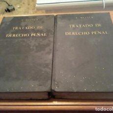 Libros antiguos: TRATADO DE DERECHO PENAL.EDMUNDO MEZGER.2 TOMOS.1935.CO.REVISTA DE DERECHO PRIVADO.. Lote 291602993