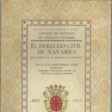 Libros antiguos: EL DERECHO CIVIL DE NAVARRA, AÑO 1955, FOLLETO DE 40 PÁGINAS. Lote 295811228