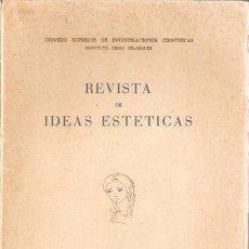 Libros antiguos: REVISTA DE IDEAS ESTÉTICAS Nº 37, 1952 CONS.INVESTIGACIONES CIENTIFICAS- - VER INDICE -VELL I BELL. Lote 26660269