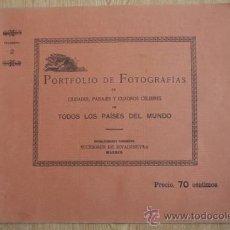 Libros antiguos: PORTFOLIO DE FOTOGRAFÍAS DE LAS CIUDADES, PAISAJES Y CUADROS CÉLEBRES. . Lote 28734071